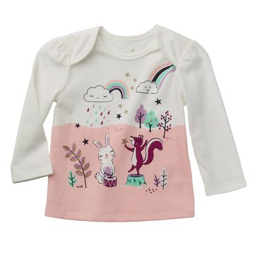 Wanderling Baby Girl Long Sleeve Crew Tee