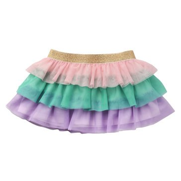 Wanderling Baby Girl 3 Tiered Mesh Rainbow Skirt