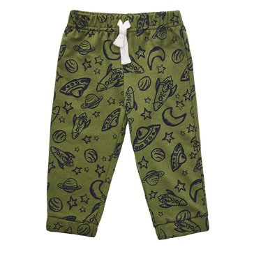 Wanderling Baby Boy French Terry Terry Knit Print Jogger Pant