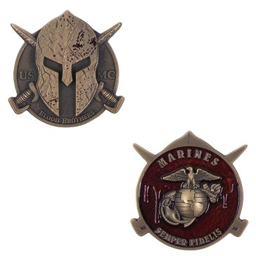 Vanguard USMC Spartan Blood Brothers 2 Coin