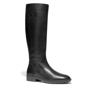 Coach Women's Fynn Leather Boot With Stamp Logo