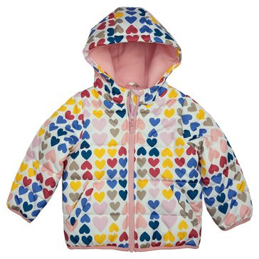 Carters Baby Girl Heart Print Puffer Jacket