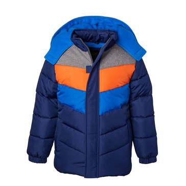 iXtreme Baby Boy Colorblock Hooded Puffer Jacket