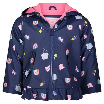 Carters Baby Girl Mid-Weight Kitties and Rainbows Jacket