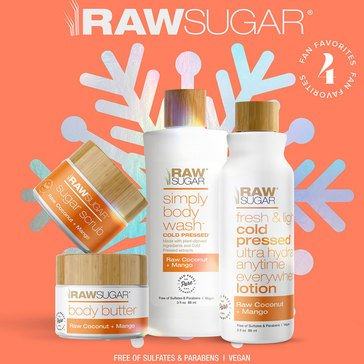 Raw Sugar 4pc Body Wash Raw Coconut Mango