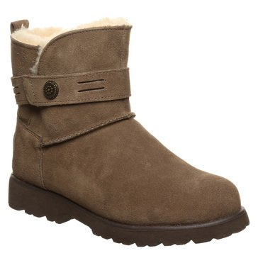 Bearpaw Women's Wellston 5 Inch Suede Never Wet Boot With Strap Trim