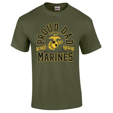 MV Sport Men's USMCs Proud Dad Tee