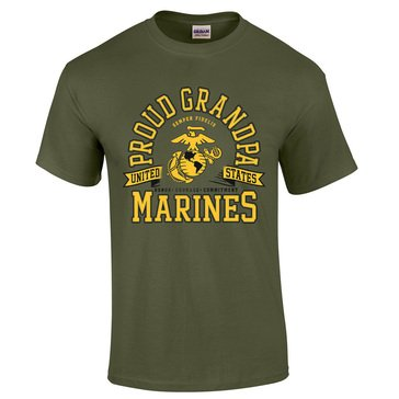 MV Sport Men's USMCs Proud Grandpa Tee