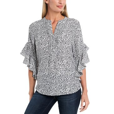 Vince Camuto Women's Flutter Sleeve Blouse