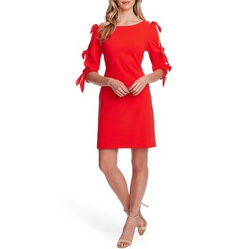 Vince Camuto Women's Tie Bell Sleeve Crepe Dress