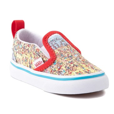 Vans Toddler Boys' Where's Waldo? Classic Slip On Sneaker