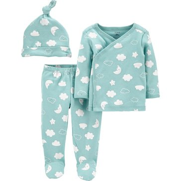 Carters Little Baby Basics Neutral 3 Piece Side Snap