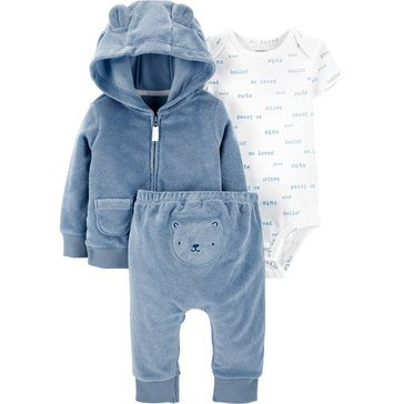 Carters Little Baby Basics Boy Layette Cardi Set