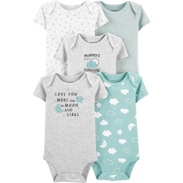 Carters Little Baby Basics Neutral 5-Pack Bodysuit