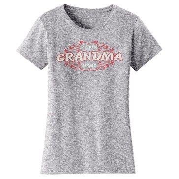 Frontline Military Apparel Women's USMC Proud Grandma EGA Tee
