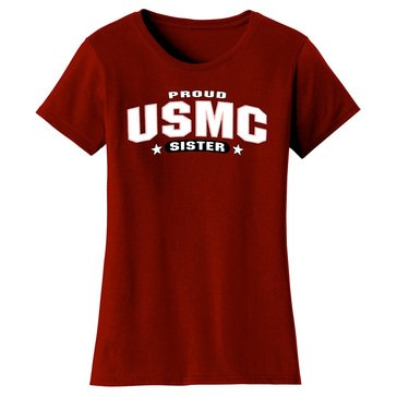 Frontline Military Apparel Women's USMC Proud Sister Tee