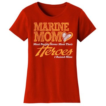 Frontline Military Apparel Women's USMC Mom Meet Their Heroes Tee