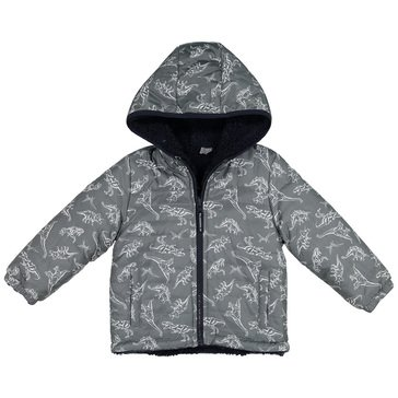 London Fog Little Boys' Midweight Teddy Fleece Lined Coat