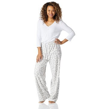 Yarn & Sea Women's Henley Plush 2-Piece PJ Gift Set