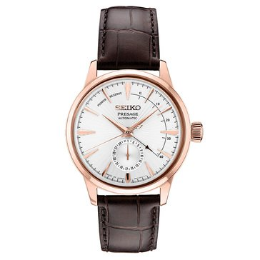 Seiko Men's Presage Automatic 29 Jewel Leather Strap Watch