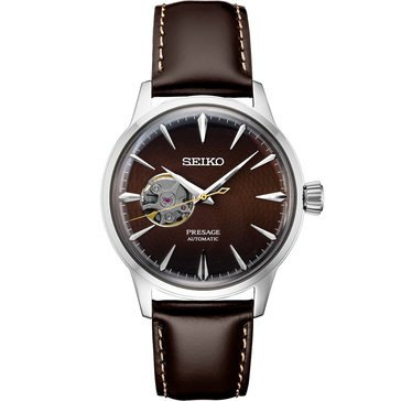 Seiko Men's Presage Automatic 24 Jewel Leather Strap Watch