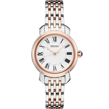 Seiko Women's Essentials Blue Cabochon Crown Bracelet Watch
