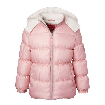 Pink Platinum Little Girls' Classic Puffer
