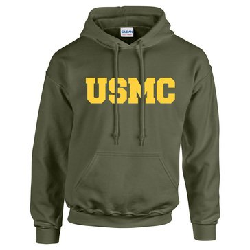 MV Sport Mens USMC Block Classic Fleece Hood
