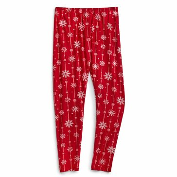 No Comment Twinkling Snowflakes Holiday Leggings