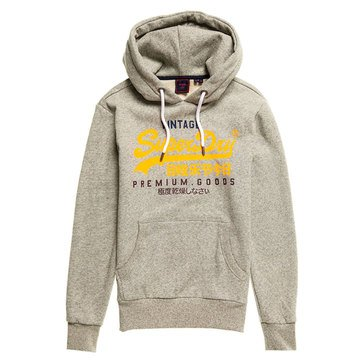 Superdry Men's Vintage Logo Tri Color Pullover Hoodie