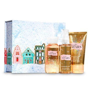Bath & Body Works Mini Trio Easel Box In The Stars Village Houses