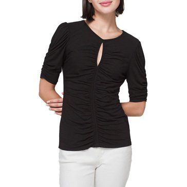 White House Black Market Women's Ruched Tee