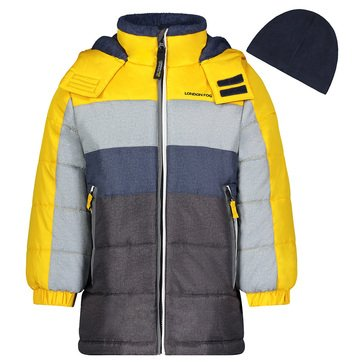 London Fog Baby Boys' Colorblock Puffer Jacket