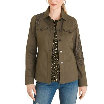Chico's Women's Lace Applique Jacket