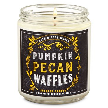 Bath & Body Works Fox Caf Single Wick Candle Pumpkin Pecan Waffles