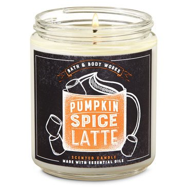 Baht and Body Works Fox Caf Single Wick Candle Pumpkin Spice Latte