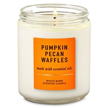 Bath & Body Works Single Wick Candle Pumpkin Pecan Waffles