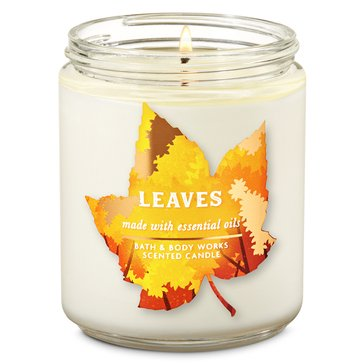 Bath & Body Works Fall Is Calling Icon Single Wick Candle Leaves