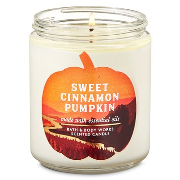 Bath & Body Works Fall Is Calling Icon Single Wick Candle Sweet Cinnamon Pumpkin