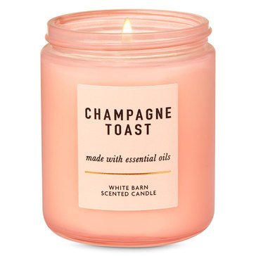 Bath & Body Works White Barn Color Single Wick Candle Champagne Toast