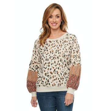 Democracy Women's Animal Print Sweatshirt