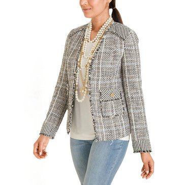 Chicos Women's Fringed Trim Jacket