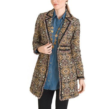 Chicos Women's Velvet Fringed Jacket