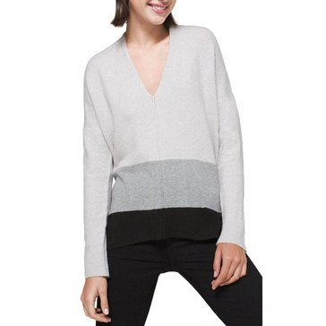 White House Black Market Women's Colorblock Tunic Sweater