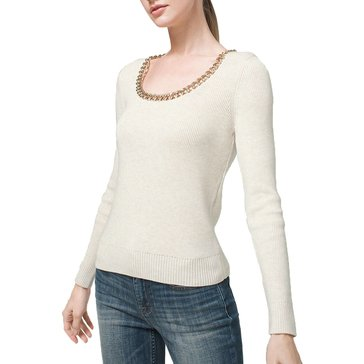 White House Black Market Women's Chain Neck Pullover