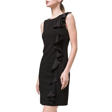 White House Black Market Women's Ruffle Shift Dress