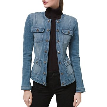 White House Black Market Women's Denim Military Jacket