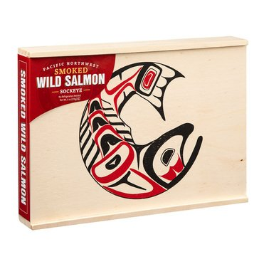 Seabear Smoked Sockeye Salmon 6oz Wood Totem Box