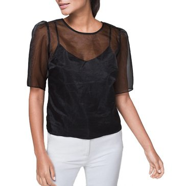 White House Black Market Women's Organza Blouse