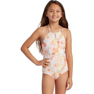 Billabong Big Girls' Little Bit Sunshine One-Piece Swim Suit
